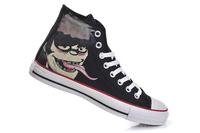 High Top Doodle Gorillaz Crossover Canvas Shoes Graffiti Pattern Unisex