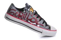 Low Top Doodle Gorillaz Crossover Canvas Shoes Graffiti Pattern Unisex