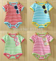 free shipping 2014 summer high quality 100% cotton  baby  triangle Sports garment sunglass bodysuits NO BB6