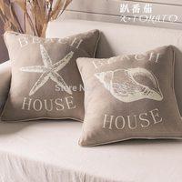 whole sales, cushion pillow marine retro finishing  for palm   beach home decoration fabric