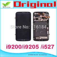1pcs/lot  Original Touch Digitizer LCD Screen Display For Samsung Galaxy Mega 6.3 i9200 i9205 i527  LCD SCREEN DISPLAY+ Frame