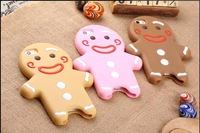 Lxury Fashion Cartoon The gingerbread man Phone Bags Cases For iPhone 5 5S The gingerbread man SiliconCaseCover For i Phone 55S