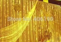 6m*3m LED Curtain Strings Luxury Hotel Wedding Holiday Decoration Lights 110V 220V