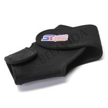 Black Sport Basketball Ankle Foot Elastic Brace Support Wrap Neoprene Adjustable(China (Mainland))