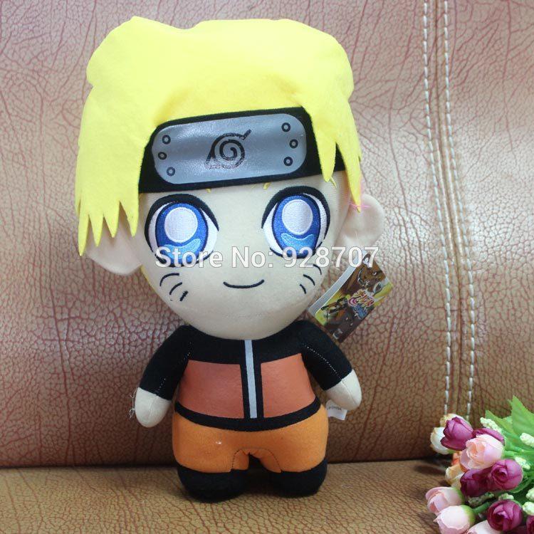hot sale cartoon plush dolls 32cm anime naruto Stuffed toys standing Uzumaki Naruto plush toy 1pce/pack(China (Mainland))