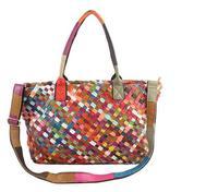 Genuine Leather Handbag Large Capacity Handmade Weaving Shoulder Tote bag Women Messenger Bags Travel Bags 1902