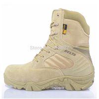 Free shipping U.S. commandos tactical combat boots delta field high desert boots