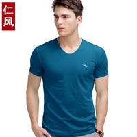 2014 male plus size 100% cotton short-sleeve T-shirt slim short-sleeve t men's clothing