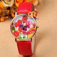 New 2014 Fashion Women geneva Men Quartz watch casual Sports student Ladies Brand Wristwatch Free Shipping G-8018#