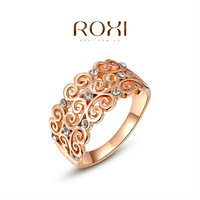 ROXI 2014 Free Shipping Rose Gold Plated Romantic Elegant Growing Ring Statement Rings Fashion Jewelry For Women Party Wedding