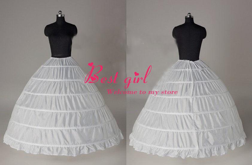 vero campione di alta qualità 6 cerchi bianchi da sposa sottoveste crinolina sottogonna per abito da sposa da sposa accessori spedizione gratuita