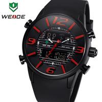 WEIDE New Arrival Men's Sports Watch Quartz Back Light Wristwatch Military Fashion Watches for Men Dress Analog-Digital Display