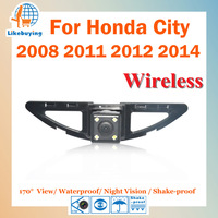 Wireless 1/4 Color CCD HD Rear View Camera / Parking Camera For Honda City 2008 2011 2012 2014 Night Vision / 170 Degree