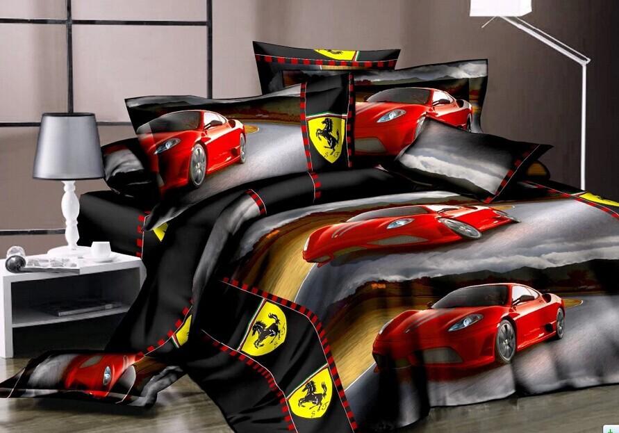Achetez en gros drap de lit voiture en ligne des - Housse de couette voiture de course ...