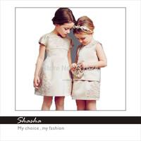 2014 Famous brand D designers G princess royal dress girls party dresses kids vintage clothes sets children clothing Italy style