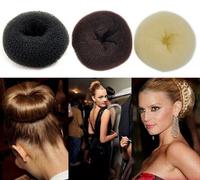 2PCS/LOT Big Size Hair Bun 12CM 3-Color Princess Donuts Meatball Headwear Hair Accessory Headband Free Shipping Wholesale