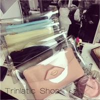 New Fashion 2014 Autumn Winter Lips PVC Transparent Clear Day Clutch Bags Womens Bags Messenger Chain Wallet Bags BG085