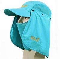 E85 2014 new summer outdoor sun caps UV block fishing caps quick dry unisex travel camping hiking climbing mountain sport hats