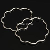 2014 HOT SALE NEW SUPPER DEAL Flower Stainless Steel Dangle Earrings 10paris/lot,Fashion Earrings