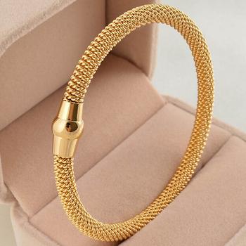 Five Color stainless steel cable mesh bracelet chain bracelet bangles for men or ...