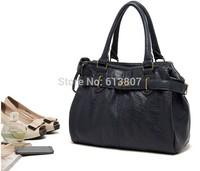 Free shipping French original single bonobo fashion sapphire litchi grain commuter OL double zipper laptop bags