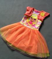Free shipping baby clothing children girls girl LALALOOPSY short sleeves dress summer dress apparel