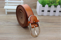 new arrive  Women light gold buckle leather belt High quality four colors strap women fashion belt