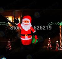 2M Hot-selling outdoor LED christmas  Inflatable Santa Claus/Air Blown Xmas Pop Up Santa/Christmas Inflatables