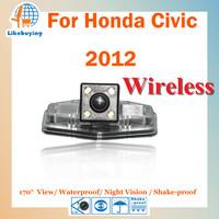 Wireless 1/4 Color CCD HD Rear View Camera / Parking Rear Camera For Honda Civic 2012 Night Vision / 170 Degree / Waterproof
