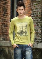 2014 new winter men's long-sleeved t-shirt combed cotton men T shirt a generation of fat