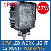 "1PCS 27W 4"" LED WORK LIGHT DRIVING LIGHTS OFFROADS SPOTLIGHT TRUCK FLOOD EURO BEAM 12V 24V 4WD Tractor Truck Trailer Boat"