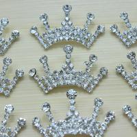 2014 free shipping Baby Tiara button wedding Crystal Tiara Crown Princess Girls hair dress accessories 60pcs/lot