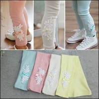 HOT 2014 100% cotton Baby pants flower pants Baby PP Pants girl lovely cartoon pants baby leggings free shipping