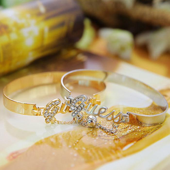 2014 Newest women girl Korean Fashion Letter Casual Bracelet Pendant beautiful Bracelet bangles T east