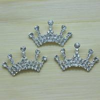 Trial Order 2014 free shipping Baby Tiara button wedding Crystal Tiara Crown Princess Girls hair dress accessories 12pcs/lot