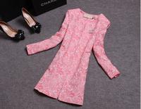Autumn Winter Coat Black Trench Coat For Women 2014 Candy Color Long Slim Women's Coats Female Overcoat Trenchcoat
