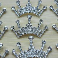Trial Order 2014 free shipping Baby Tiara button wedding Crystal Tiara Crown Princess Girls hair dress accessories 300pcs/lot