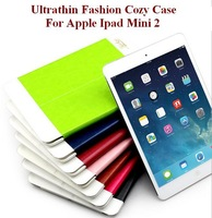 Folding Folio Case For Apple Ipad Mini2 Ultrathin Fashion Cozy Case with Sleep& Awake Function Seven Colors Freeshipping