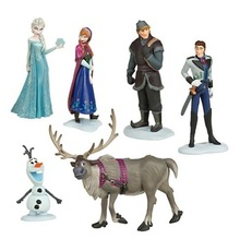 Best Price Frozen Figure Play Set Frozen Princess Anna Elsa 6 figure set movie Cartoon Anime princess doll toy Drop shipment(China (Mainland))