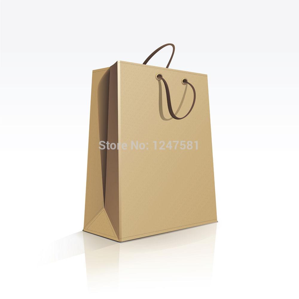 Matt Lamination Craft paper bag recycled paper bags with handles Customed recycled paper bags with handles(China (Mainland))