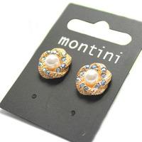wholesale 2014 fashion beautiful flower crystal earring for women free shipping E187