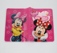"""Cute Pink Minnie Mouse Passport Card Holder, Cartoon Travel Case Cover (5..3"""" X 3.7"""")--Free Shipping"""