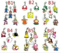 120 sets  Super Mario Bro Luigi Peach Goomba keychais Classic Game Nintendo Mario phone straps free shipping by DHL