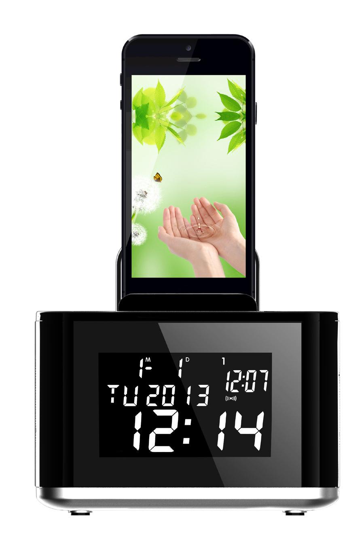 Profeesional Bluetooth Speaker Multifunction Head Board Speaker Calendar Alarm Clock LCD Moniter TF Card Wireless FM(China (Mainland))
