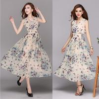 Fashion high quality 2014 women's elegant butterfly full print chiffon dress one-piece dress