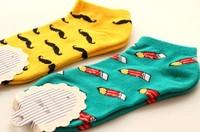 Fashion lady socks friut socks 100% cottom mix color  free shipping