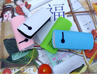 50pcs/lot Small pretty waist 2th Power Bank 5600mAh USB External Backup Battery Pack Charger With retail packaging