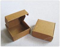 Free Shipping DIY Folded Favor Handmade Soap Box Gift Packaging - brown 120pcs/lot LWB0366BB