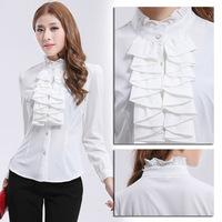 2014 new arrive winter fashion shirt women's shirt collar high quality long sleeve blouse Free shipping