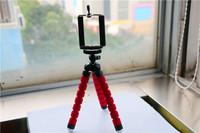 Free Shipping Mini 21CM Digital Camera Stand Flexible Leg Tripod Grip Octopus Bubble Pod Monopod Mobile Phone Holder Clip